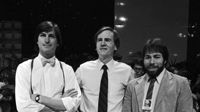 John Sculley, Steve Jobs, and Steve Wozniak