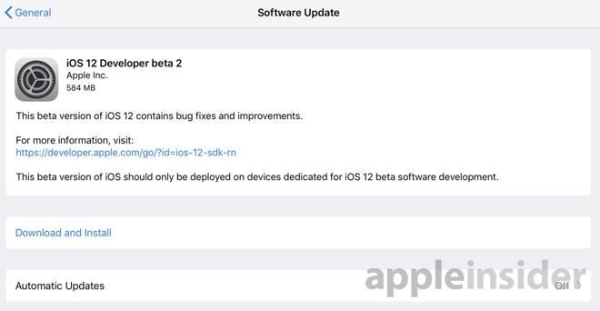 Apple rolls out second developer betas for iOS 12, tvOS 12, macOS
