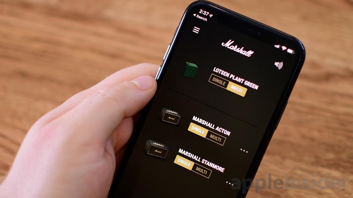 Marshall Multi-Room Speakers App