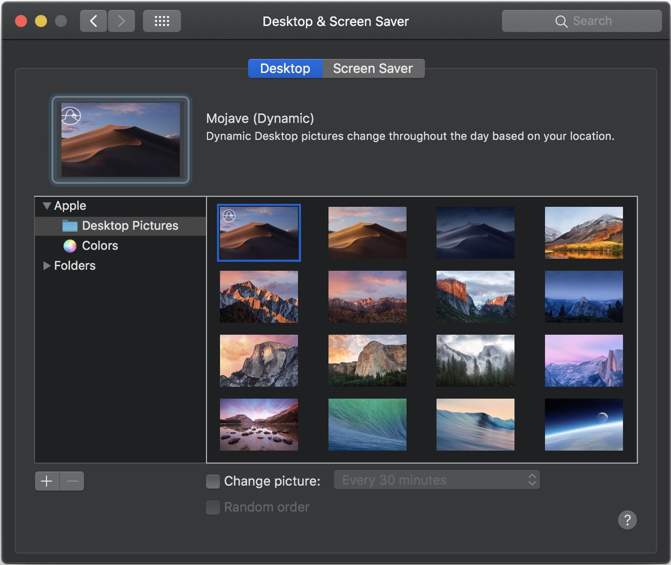 Mojave Dynamic Desktop