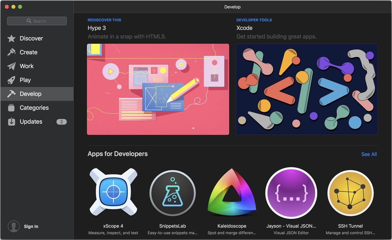 Mojave Mac App Store