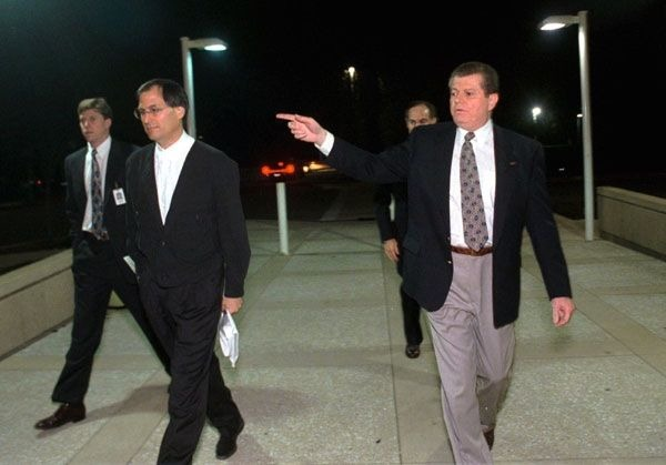 Steve Jobs and Gil Amelio