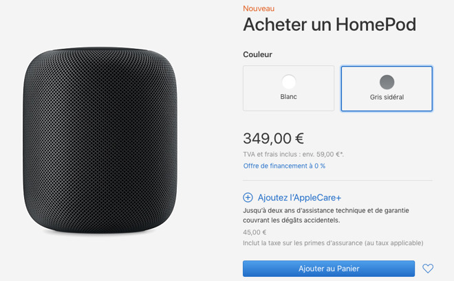 HomePod in French Apple Store