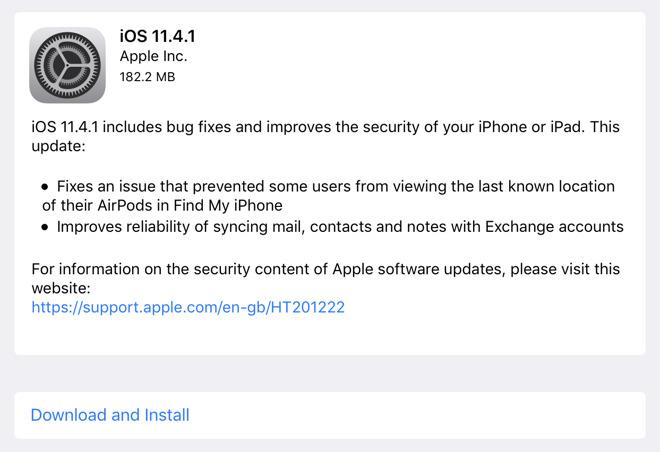 Apple releases iOS 11 4 1, HomePod 11 4 1, tvOS 11 4 1 & watchOS 4 3