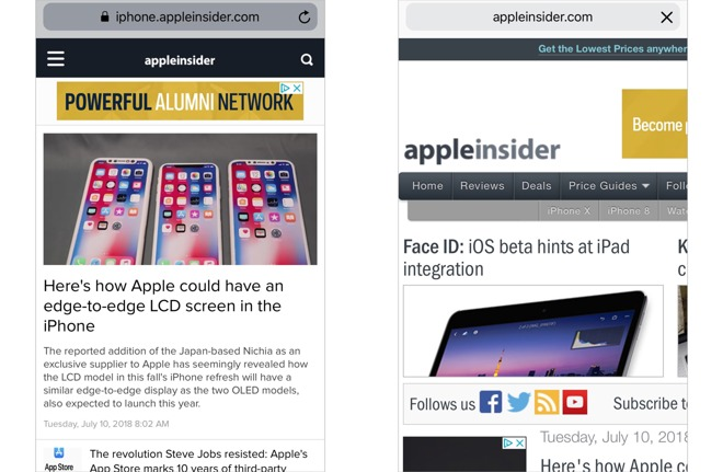 How to quickly request the desktop version of a website on your iPhone