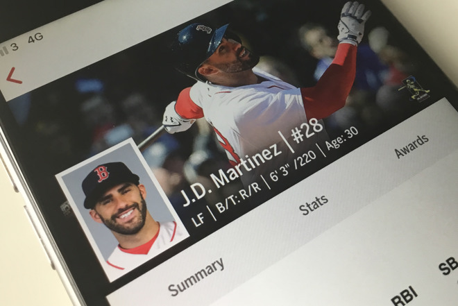 Every batting practice session that J.D. Martinez takes is filmed by two  iPads mounted on either side of the batting cage. Then b44d44d4e