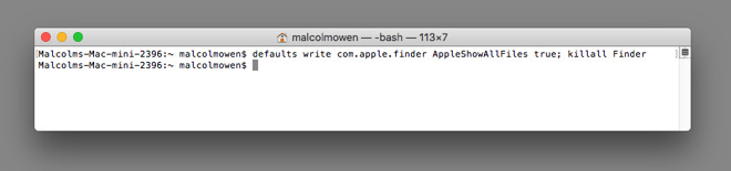 How to see hidden files and folders in macOS