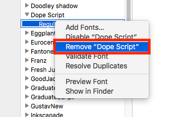 How to add or remove fonts on the Mac with Font Book