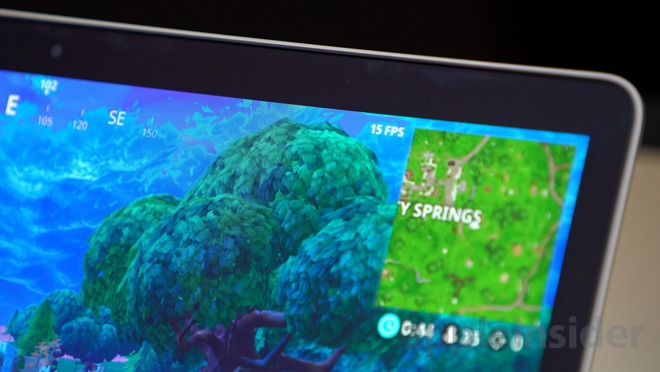 so the conclusion from that test is that fortnite is pretty much unplayable on the 2018 13 inch touch bar macbook pro unless you turn the graphics settings - fortnite on apple macbook pro