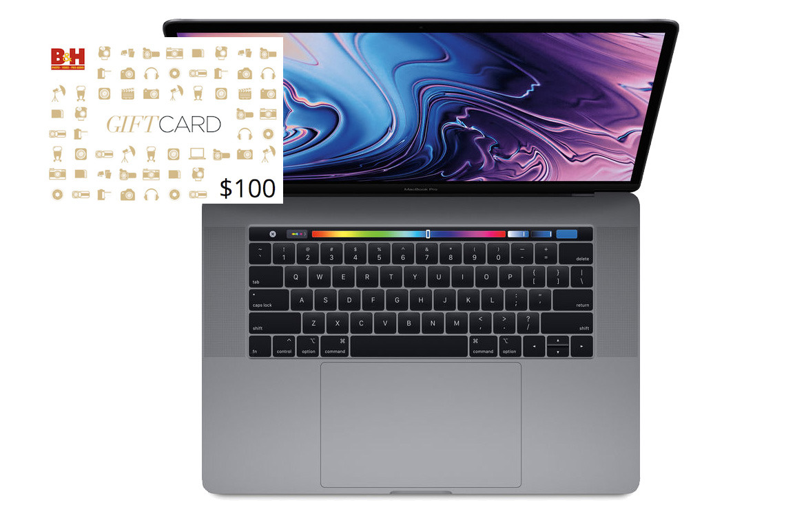 Apple 2018 15 inch MacBook Pro free gift card deal