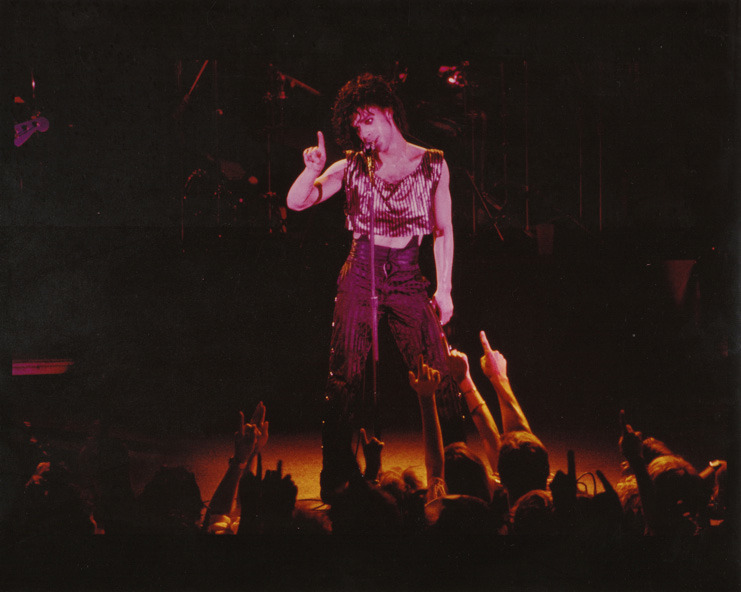 Prince at the 1983 concert.