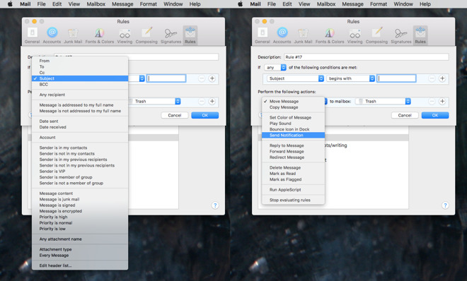 How to exploit Apple Mail's patchy but powerful rules to control