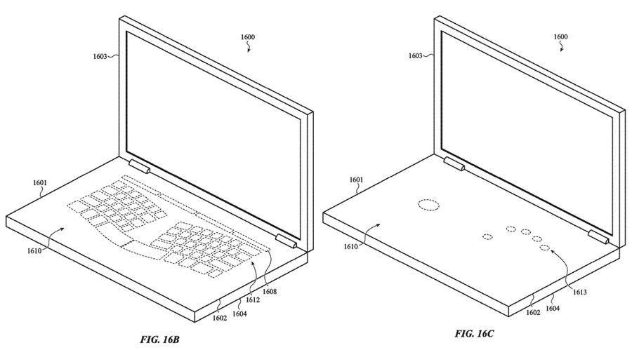 Glass MacBook keyboard patent