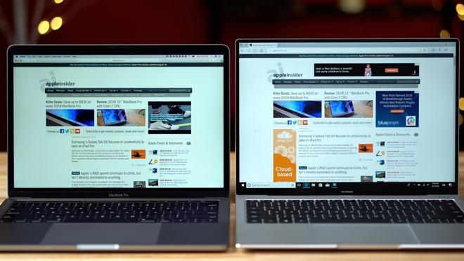 Comparing the 13-inch 2018 MacBook Pro vs  MateBook Pro