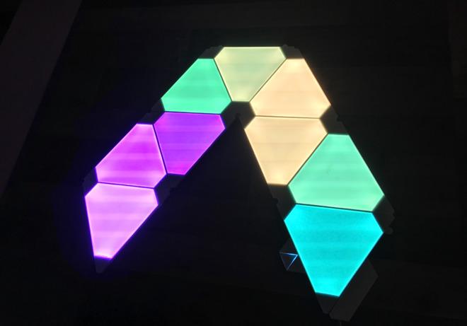 Hands On Nanoleaf S Homekit Enabled Rhythm Edition Light
