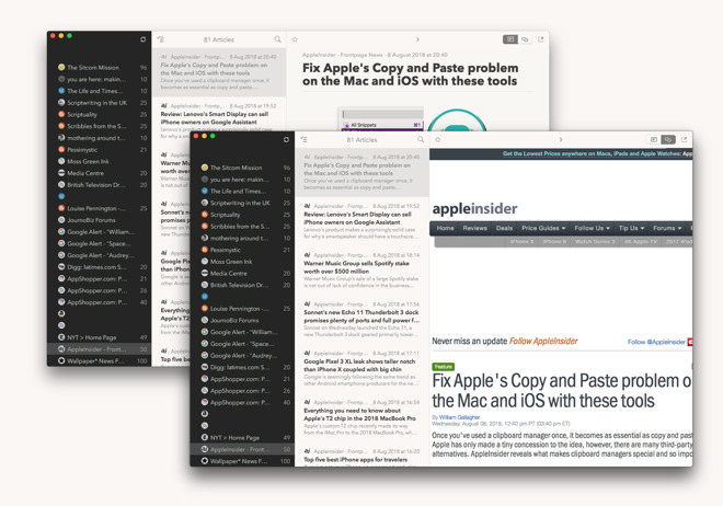 Hands on: Cappuccino news reader for macOS and iOS is