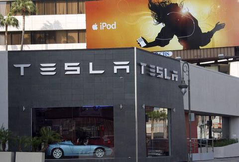 A Tesla store in Los Angeles
