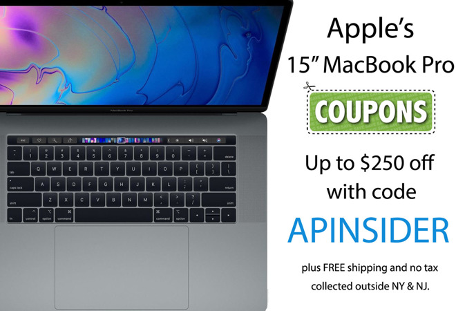 Apple 15 inch MacBook Pro coupon 2018