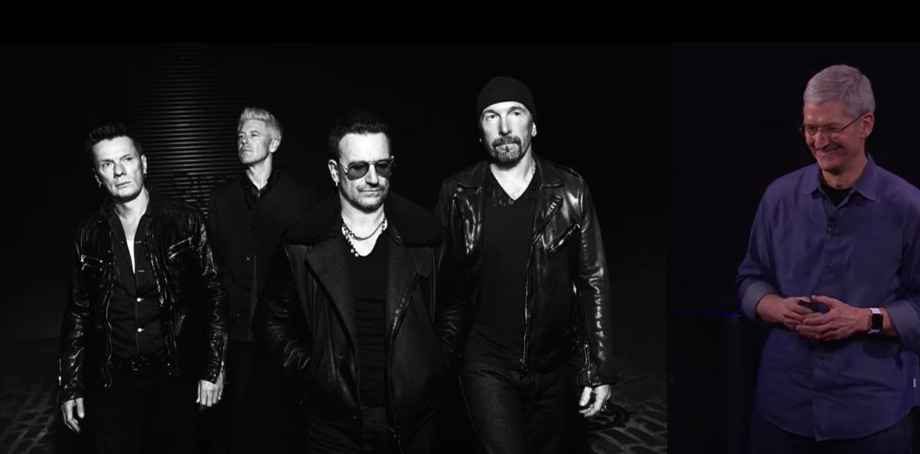 Tim Cook and U2