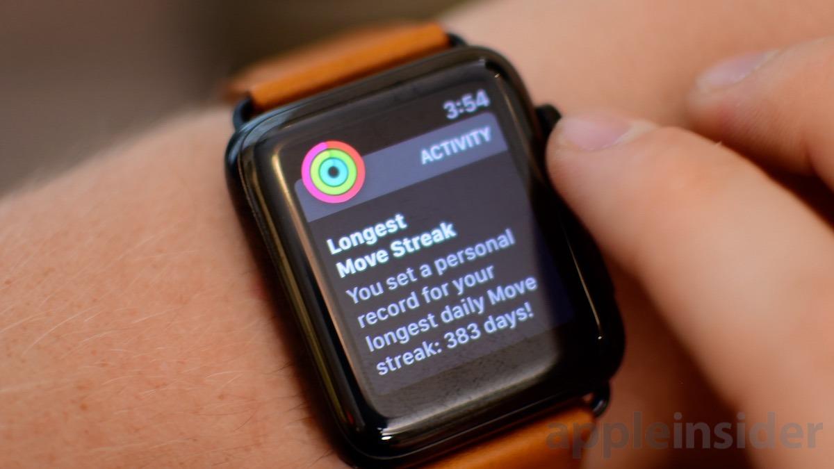 Apple Watch Series 3 Workout Streak