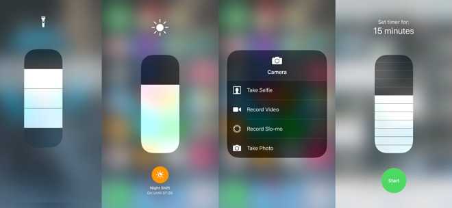 How to quickly access iOS features via Control Center's
