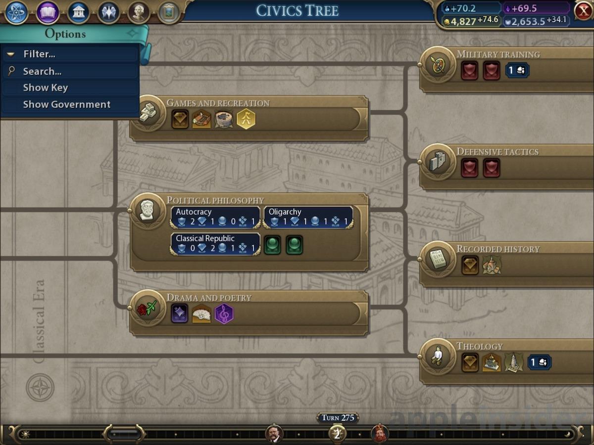 Civilization VI on iPad
