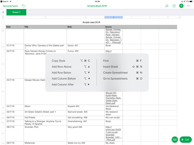How to find Apple's Numbers power spreadsheet features