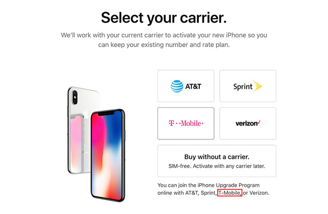 apple opens online iphone upgrade program enrollment to t mobile