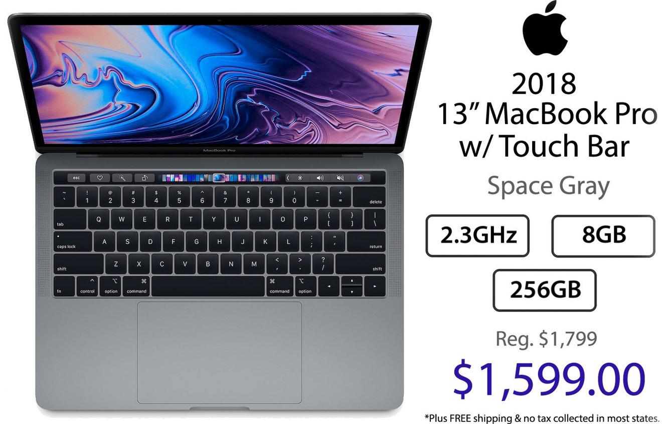 Apple 2018 13 inch MacBook Pro with Touch Bar sale