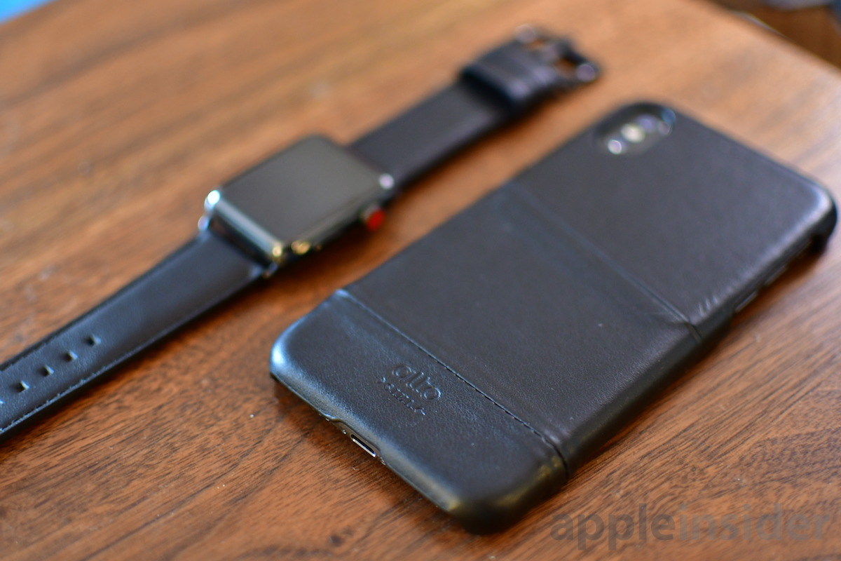 Alto Raven Apple Watch band and case