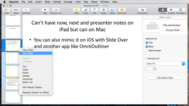 How to use Apple's Keynote on the Mac and iPad to prepare compelling