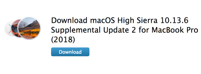 Apple issues second macOS High Sierra Supplemental Update for 2018