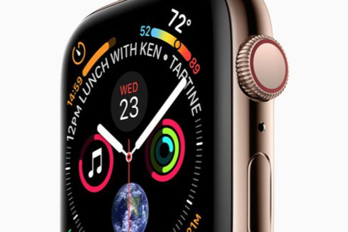 What are all the complications on the leaked Apple Watch 'Series 4' face?