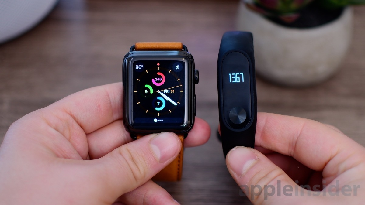 Apple Watch vs Mi Band 2