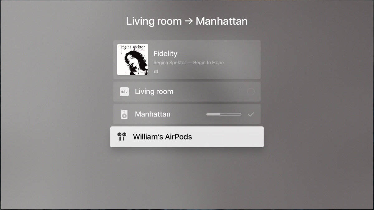 Apple TV connecting to AirPods