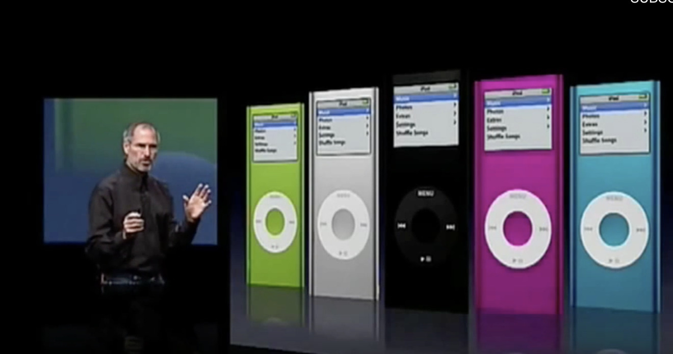 The second-generation iPod nano