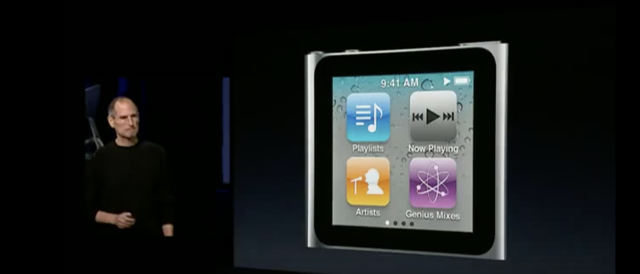 The sixth-generation iPod nano
