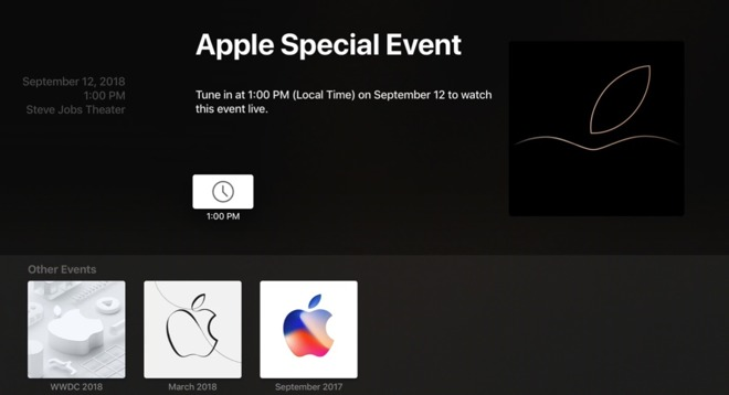 39a4aed08f30 Apple Events app updated for  Gather round  Sept. 12 iPhone event