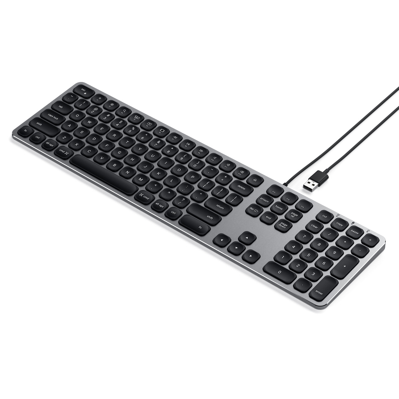 satechi ships new wired wireless aluminum keyboards for desktop macs. Black Bedroom Furniture Sets. Home Design Ideas