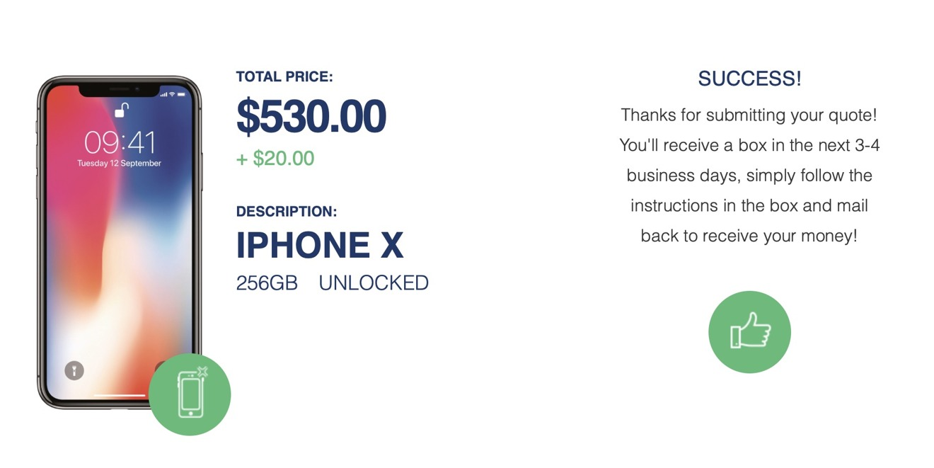 Apple iPhone X trade in value with coupon code