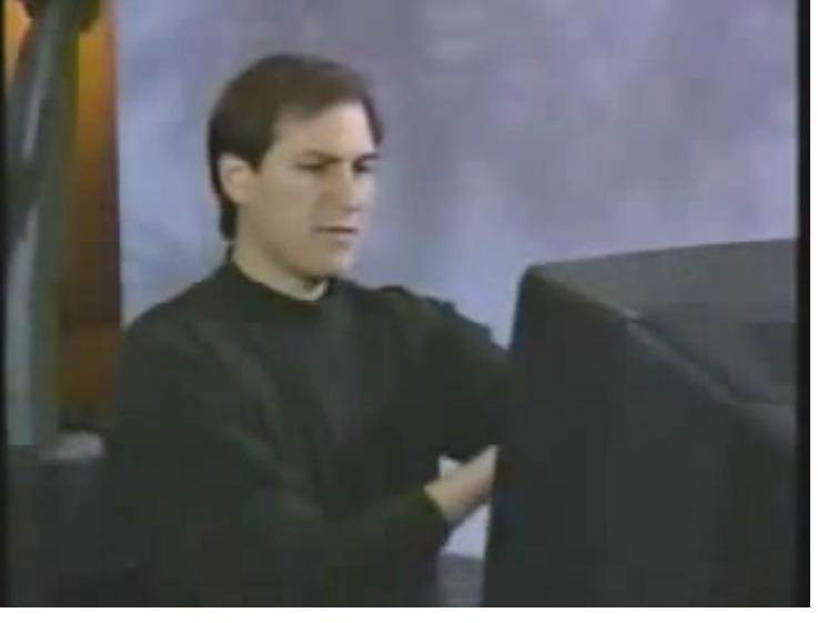 Steve Jobs demonstrates NeXT