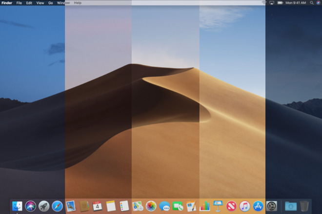 Time lapse of Mojave's dynamic wallpaper changing