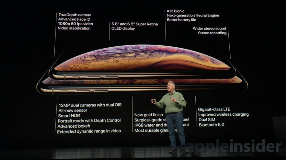 iPhone Xs and Xs Max Specs