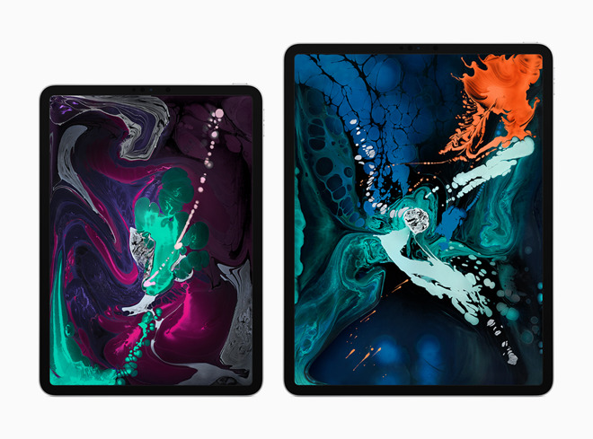 The two new iPad Pro models side-by-side
