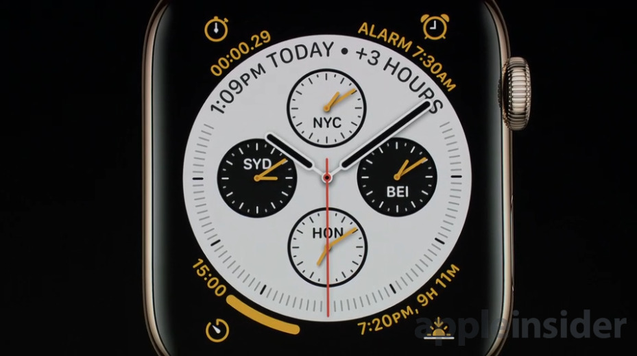 Apple Watch Series 4 New Faces