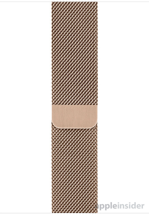 Apple Watch Gold Milanese Loop