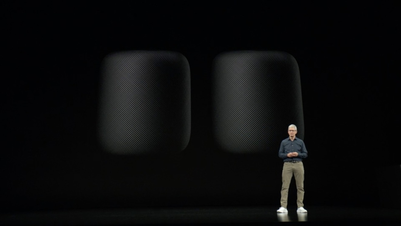 Tim Cook with the HomePod