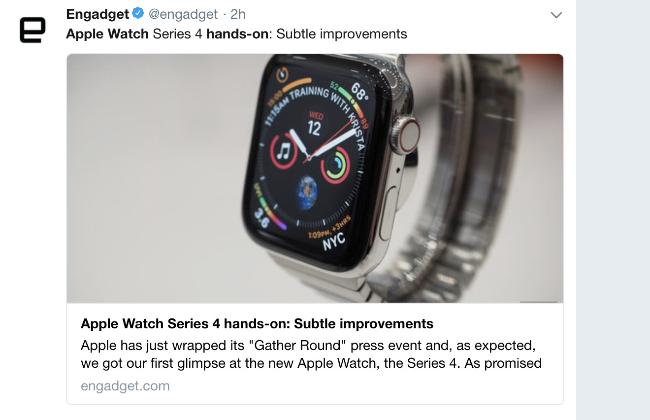 Engadget on 2018 Apple Watch