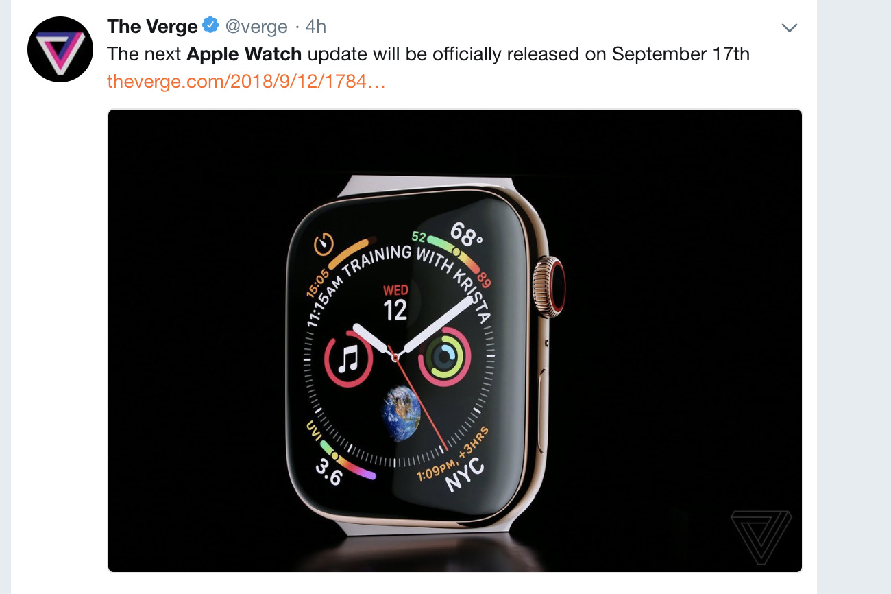 The Verge on Apple Watch