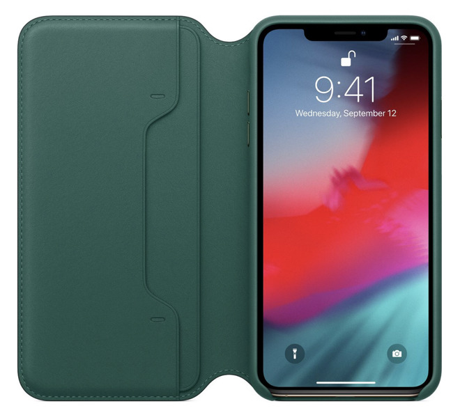 Forest Green iPhone XS Max Folio Case